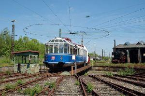 Baureihe ET 91 sendo manobrada no pátio da Bahnpark Augsburg